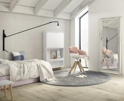 Klappbarer Wandschreibtisch mit magnetischem Boden, LED-Licht, USB-Anschluss und Steckdose
