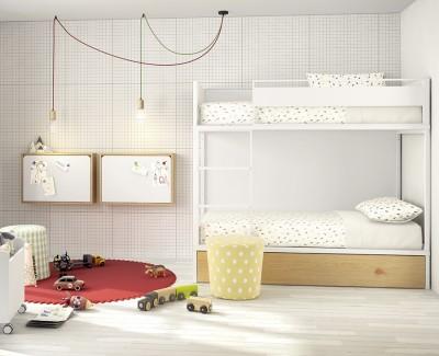 Klappbarer Wandschreibtisch mit LED-Licht, USB-Anschluss, Steckdose und Gummibändern