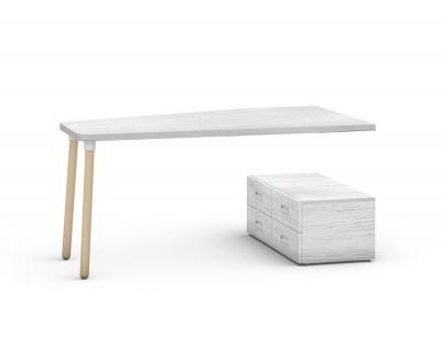 Schreibtisch mit vier Schubladen