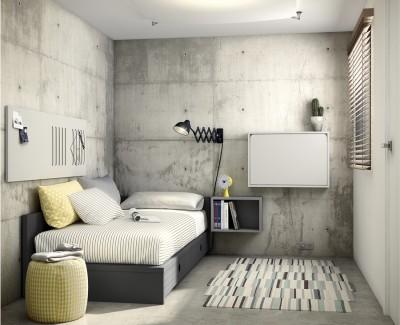 Klappbarer Wandschreibtisch mit LED-Licht, USB-Anschluss, Steckdose und magnetischem Hintergrund