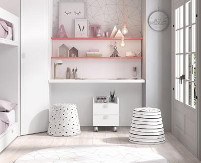 Etagenbett mit 2 Schubladen
