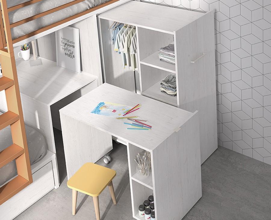 Etagenbett Mit Schrank Und Schreibtisch 2021